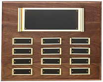 Brass Scroll Perpetual Plaque